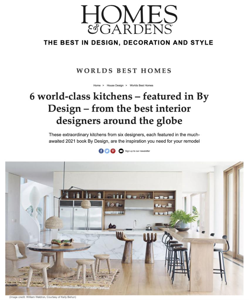 Chaises Nicolle dans un article de Homes & Gardens UK