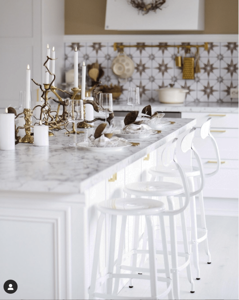 White Nicolle counter chair in a Kitchen in Norway