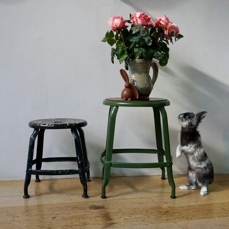 Chaises Nicolle et lapin de pâques
