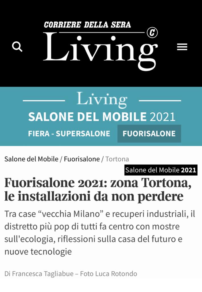 CORRIERE DE LA SERRA LIVING FUORI SALONE MILAN 2021